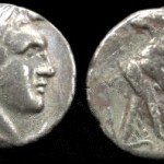 Melquarth portrait on Phoenecian Coin