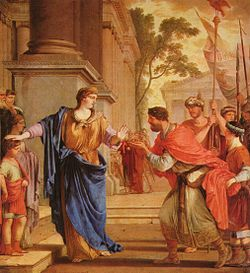 Cornelis Africana Refusing the Hand of King Ptolemy of Egypt